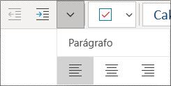 Alinhar parágrafos à esquerda na aplicação OneNote para Windows 10
