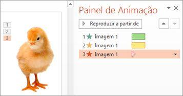 Aplicar múltiplas animações a um objeto