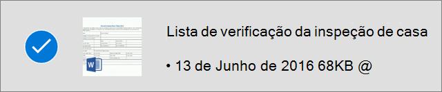 Ficheiro do OneDrive marcado como offline