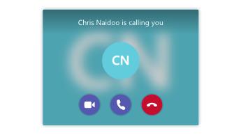 Notificação de chamada a receber