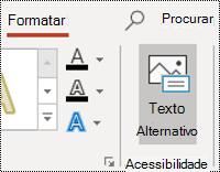 Botão AltText para uma forma no PowerPoint para Windows