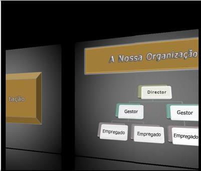 Uma transição Galeria durante uma apresentação de diapositivos