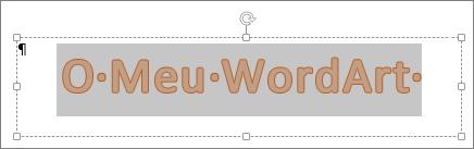 WordArt selecionado