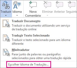 Escolher Idioma de Tradução
