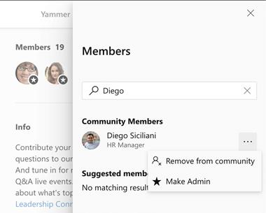 Tornar alguém um administrador da comunidade