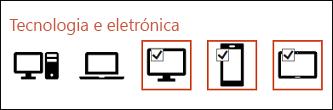 Pode selecionar múltiplos ícones para inserir ao clicar uma vez em cada um.