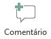 O botão Inserir comentário no PowerPoint online