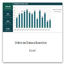 Selecione isto para obter o modelo do Diário de Dieta e Exercícios.