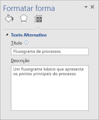 Caixa de diálogo Formatar forma no Visio.