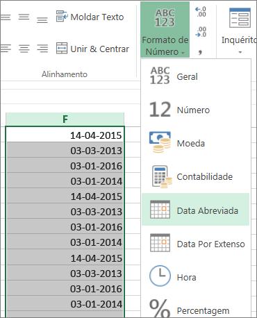 alterar dados para formato de data abreviada do friso
