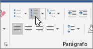 Botões Marcas e Numeração no separador Base