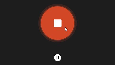 Botão de paragem