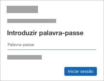 Introduza a palavra-passe da sua conta