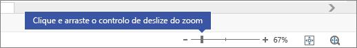 Utilizar o controlo de deslize do zoom