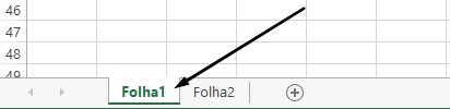 Separadores de folha de cálculo do Excel são na parte inferior da janela do Excel.