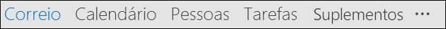 A sua barra de navegação poderá mostrar palavras ou ícones.