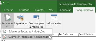 Submeter Atribuições Selecionadas
