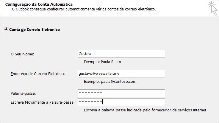 Introduza a palavra-passe de aplicação em ambas as caixas Palavra-passe.