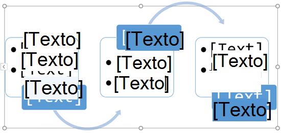 Substitua os marcadores de posição de texto com os passos no seu gráfico fluxo.