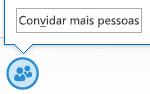 Captura de ecrã do ícone de convidar mais pessoas na janela de MI