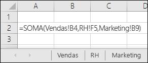 Referência da fórmula para várias folhas de cálculo do Excel