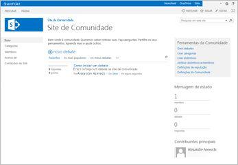 modelo de site de comunidade
