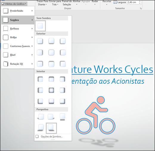 Adicione efeitos, como sombras, aos seus gráficos SVG com a ferramenta Efeitos de Gráficos