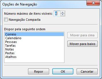 Caixa de diálogo Opções de Navegação