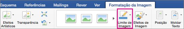 O separador Formatação da Imagem com a opção Limite da Imagem realçada.