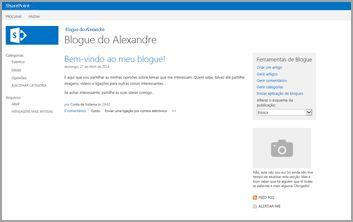 Modelo de Site de Blogue