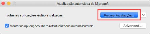 Atualizações Automáticas da Microsoft