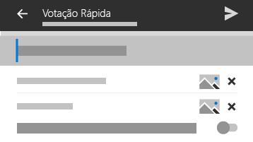 Imagem do mosaico de votação rápida