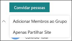 Convidar pessoas para o seu site do SharePoint