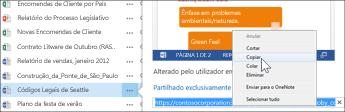 URL da Web de um documento