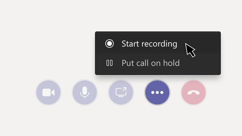 Botão gravar reunião