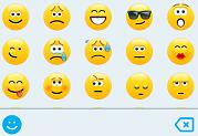 ícones expressivos no Skype para Empresas para iOS e Android