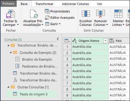 Combine o diálogo de pré-visualização dos binários. Pressione Close & Carregar para aceitar os resultados e importá-los para o Excel.