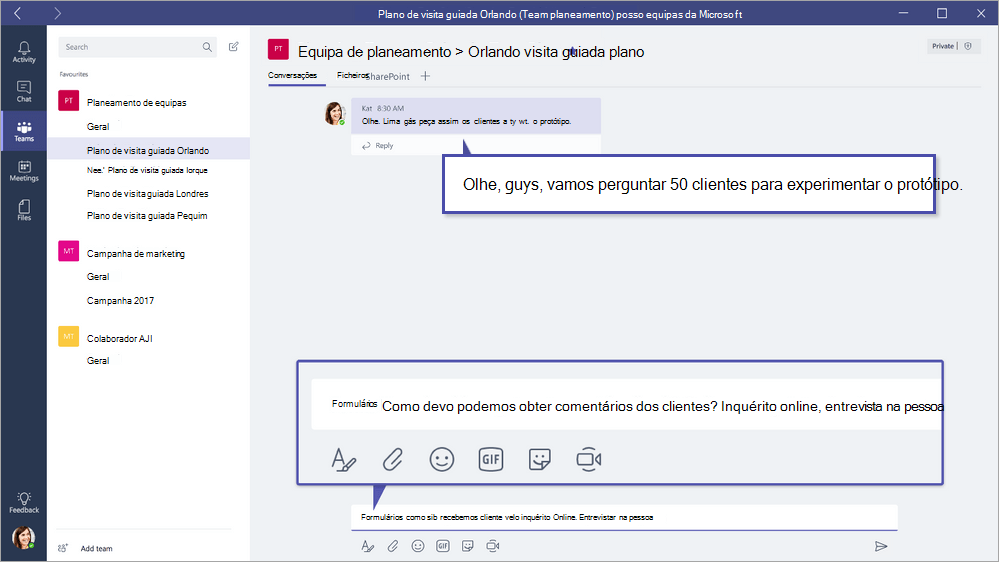 Microsoft Forms QuickPoll no Microsoft Teams