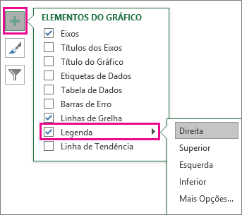 Chart Elements > Legend in Excel