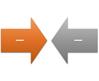 Esquema de gráfico SmartArt Setas Convergentes