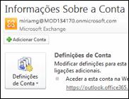 Adicionar uma nova conta de e-mail ao Outlook 2010