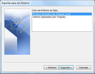 Exportar para ficheiro de dados