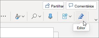 No separador Base, selecione Editor.