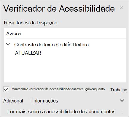 Verificador de acessibilidade no Outlook