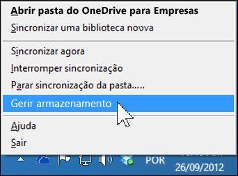 Gerir armazenamento do OneDrive para Empresas