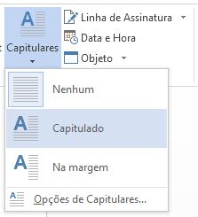 No menu Capitulares, selecione Capitulada.
