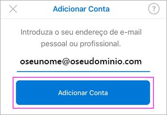 Introduza o seu endereço de e-mail