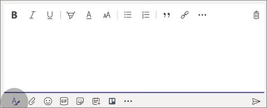 Selecione Formatar para expandir a caixa.
