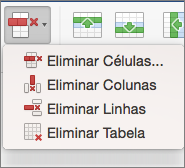 Office para Mac: Eliminar Tabela