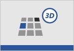 uma forma de grelha 3D